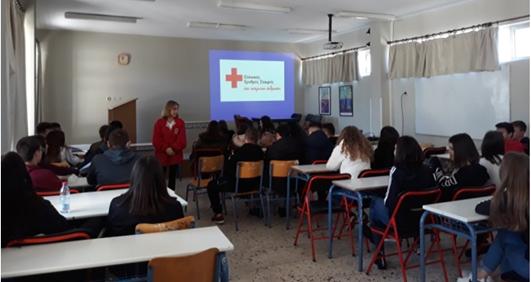 Εκπαίδευση των μαθητών του Λυκείου Αγ.Τριάδας από τον Ερυθρό Σταυρό Ναυπλίου