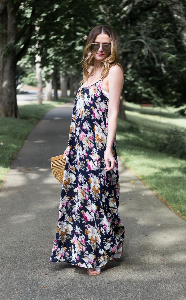 Causal Floral Maxi Dress