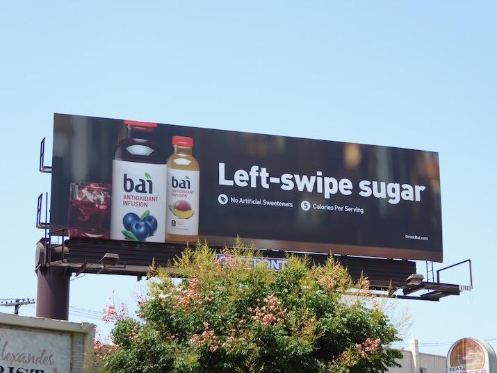 Left swipe sugar Bai billboard