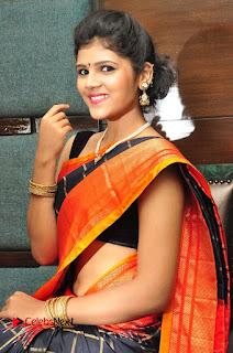 Model Sangeeta Kamath Pictures in Saree at Silk India Expo Curtain Raiser  0029.JPG