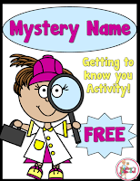 FREE Mystery Name. A great way to get to know students in the classroom.