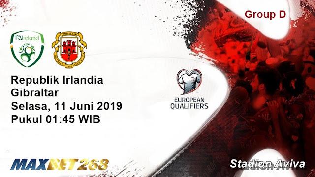 Prediksi Republik Irlandia Vs Gibraltar, Selasa 11 Juni 2019 Pukul 01.45 WIB