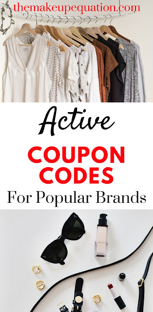 Active coupon codes for popular name brands