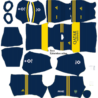 Boca Juniors - Kit Dream League Soccer 2020