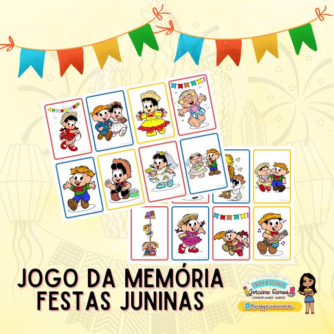 JOGO DA MEMÓRIA - FESTA JUNINA COM A TURMA DA MÔNICA