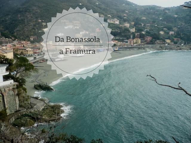 Trekking da Bonassola a Framura. veduta di Bonassola