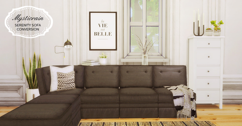 Mysticrain Serenity Sofa Conversion Mio Sims