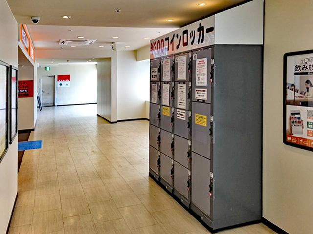 アミューズメント施設に設置されたコインロッカー