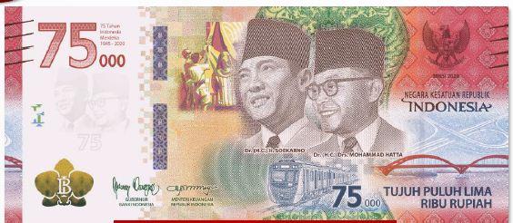 Ciri uang Peringatan Kemerdekaan (UPK) 75 Tahun Indonesia