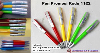 Pulpen Promosi 1122, Pulpen Model unik ballpoint pen, Pen plastik promosi - PP 102, Pulpen PP102 Putar, pen promosi souvenir putar Murah di Tangerang