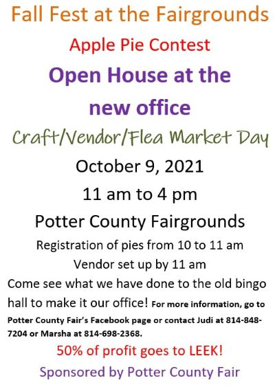 10-9 Fall Fest at Potter County Fairgrounds