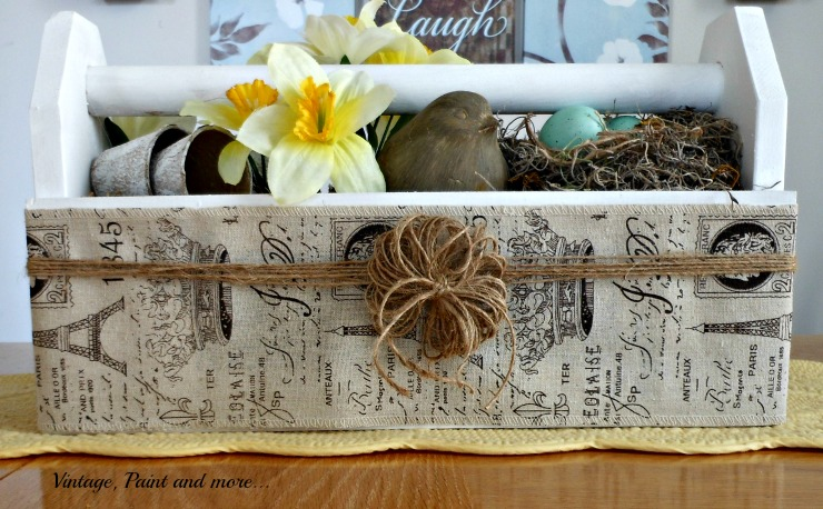 Vintage, Paint and more... vintage toolbox, French burlap ribbon, twine