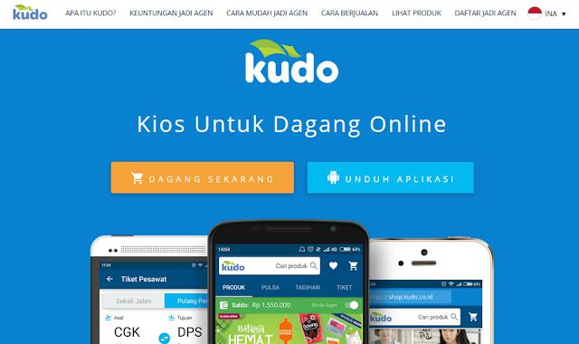 Tampilan website toko online kudo.co.id