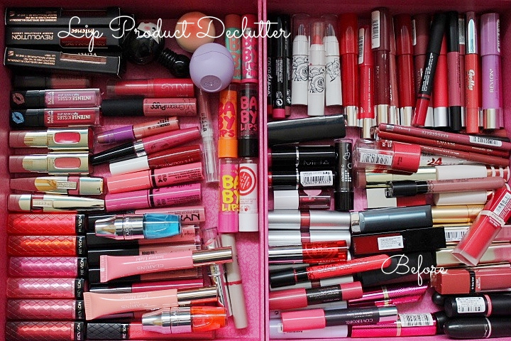 lip product declutter