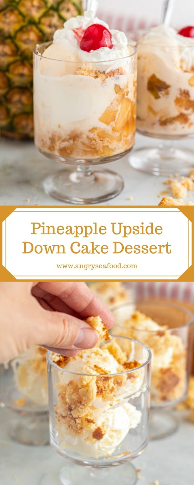 Pineapple Upside Down Cake Dessert