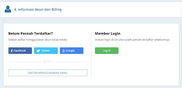 Login untuk Melanjutkan Pembayaran Domain di RumahWeb