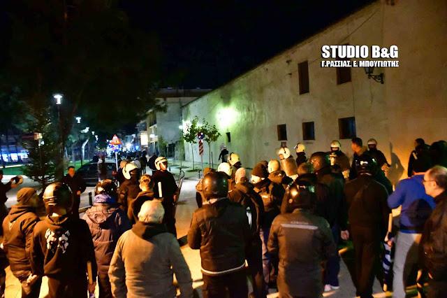 Μικροεπεισόδια από την αντισυγκέντρωση κατά της επίσκεψης  Μιχαλολιάκου στο Άργος (βίντεο)