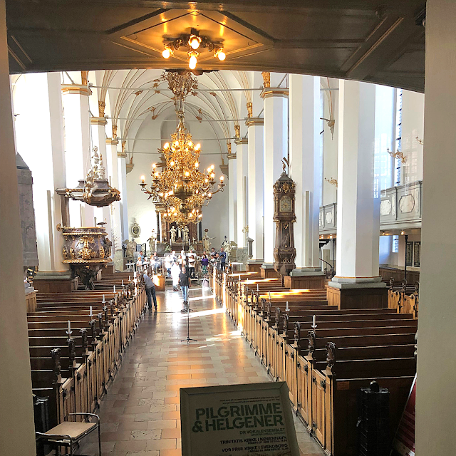 A peek inside Trinitatis Church in Copenhagen, Denmark