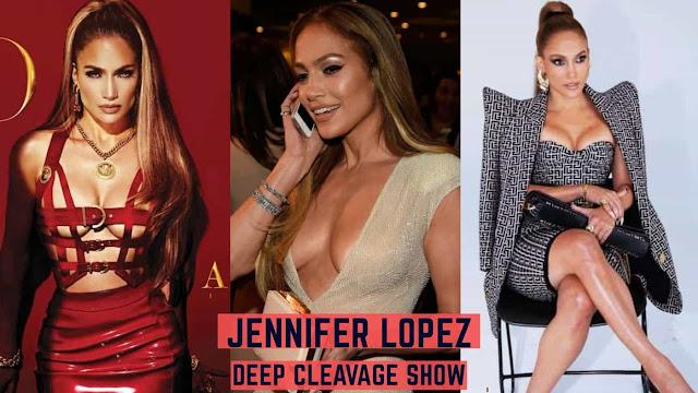 Jennifer Lopez Sexy Cleavage Photos