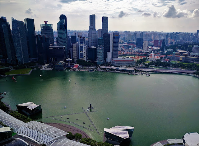 Marina Bay Sands Hotel- view from de Observation Deck