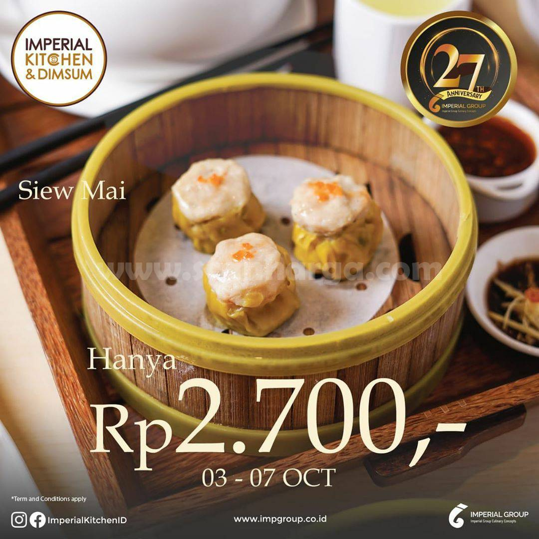 Imperial Kitchen & Dimsum Promo Siew May Hanya Rp 2.700*