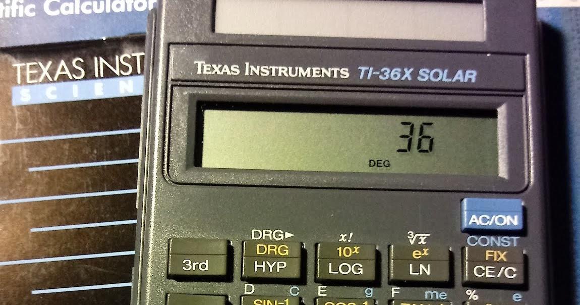 Eddie's Math and Calculator Blog: Retro Review: Texas