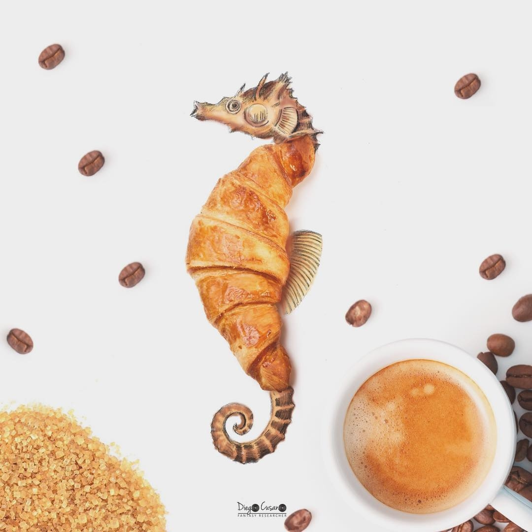 04-Croissant-Seahorse-Diego-Cusano-Combining-Drawings-with-the-Real-World-www-designstack-co