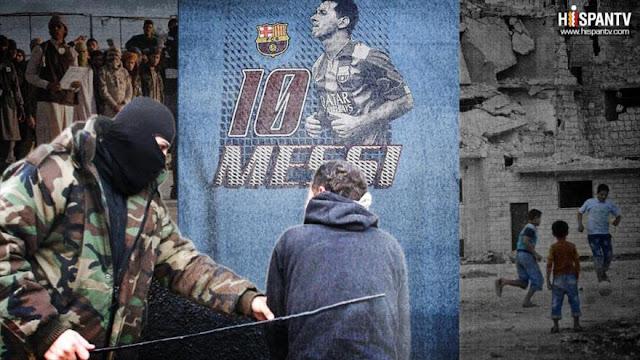 EIIL da latigazos a jóvenes iraquíes por llevar camiseta de Messi