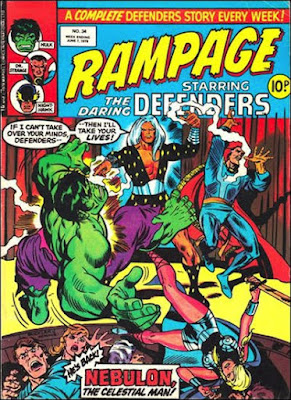 Rampage #34, Defenders vs Nebulon