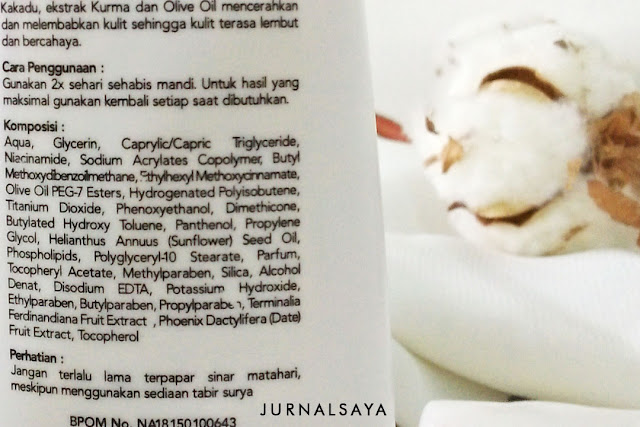 ingredients body lotion