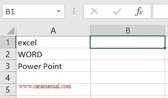 rumus lower mengubah huruf menjadi kecil di excel 1