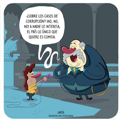 Viñeta de humor carolo por jarúl, policia nacional, delincuencia, yosoyjarul,