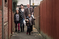 Dave Johns, Hayley Squires, Briana Shann and Dylan McKiernan in I, Daniel Blake (3)