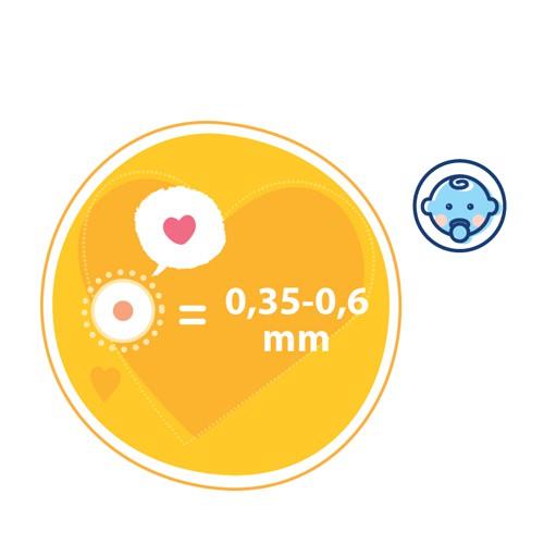 Thai nhi giai đoạn này sẽ có kích thước khoảng 0,35-0,6mm.