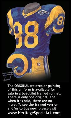 St. Louis Rams 1995 uniform
