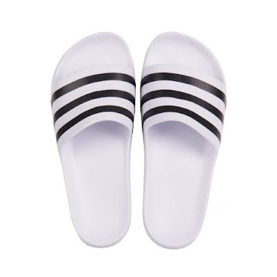 Chinelo Adidas Slide Adilette Aqua Branco/Preto