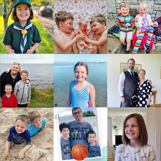 Collage of 9 square photos of smiling faces