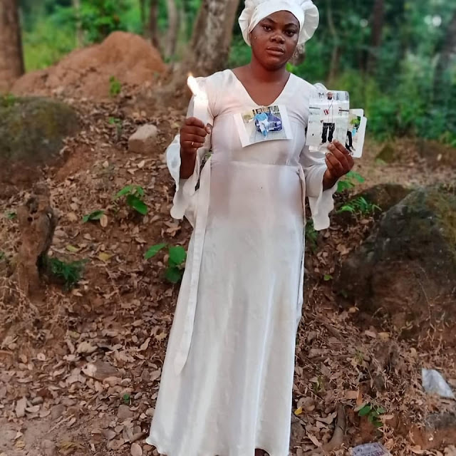 Lady Goes On 30 Days Fasting And Prayer For Hushpuppy To Be Released (Photos)