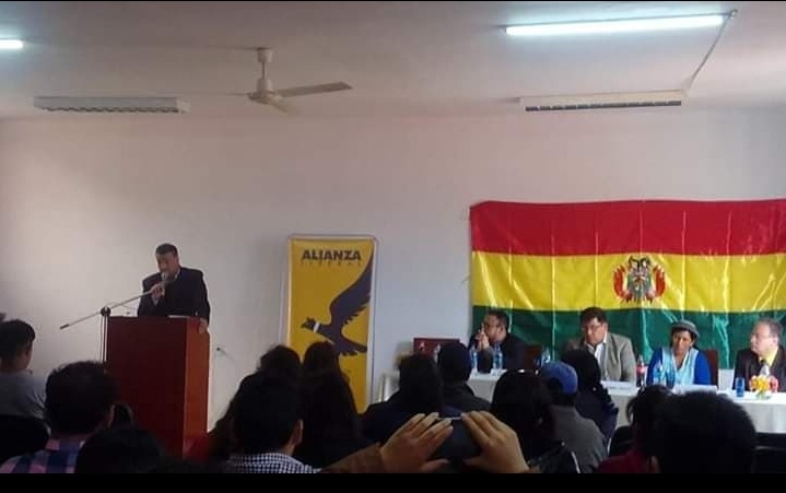 Presentación de Alianza Liberal en Tarija con Marcelo Ostria como presidenciable / ANDRÉS ORTEGA