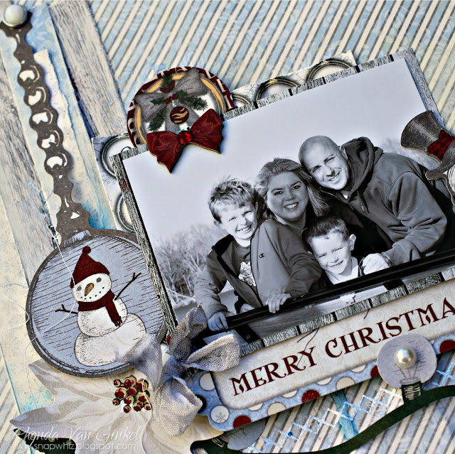 Merry Christmas Scrapbook Page featuring Tis the Season Collection by BoBunny designed by Rhonda Van Ginkel