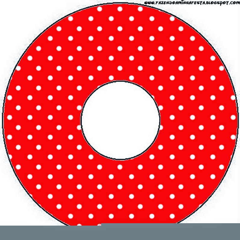 Red and White Polka Dots CD Labels.
