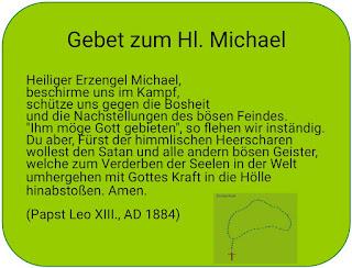 Gebet zum Hl. Erzengel Michael