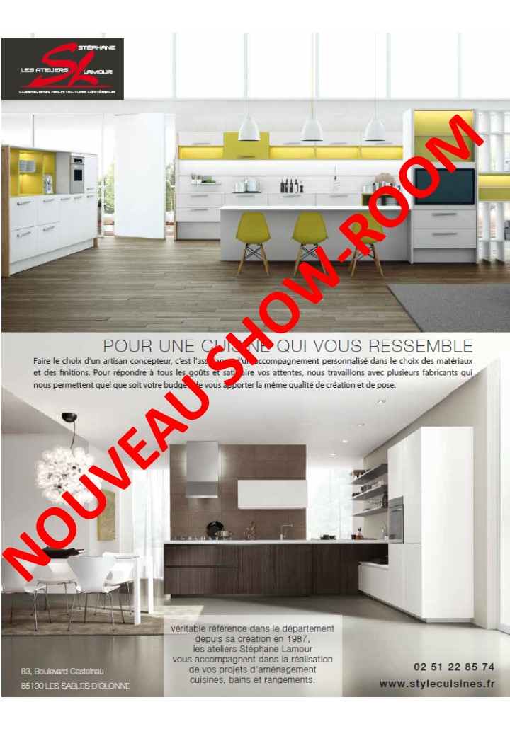 les ateliers st phane lamour nouveau show room aux sables d 39 olonne. Black Bedroom Furniture Sets. Home Design Ideas