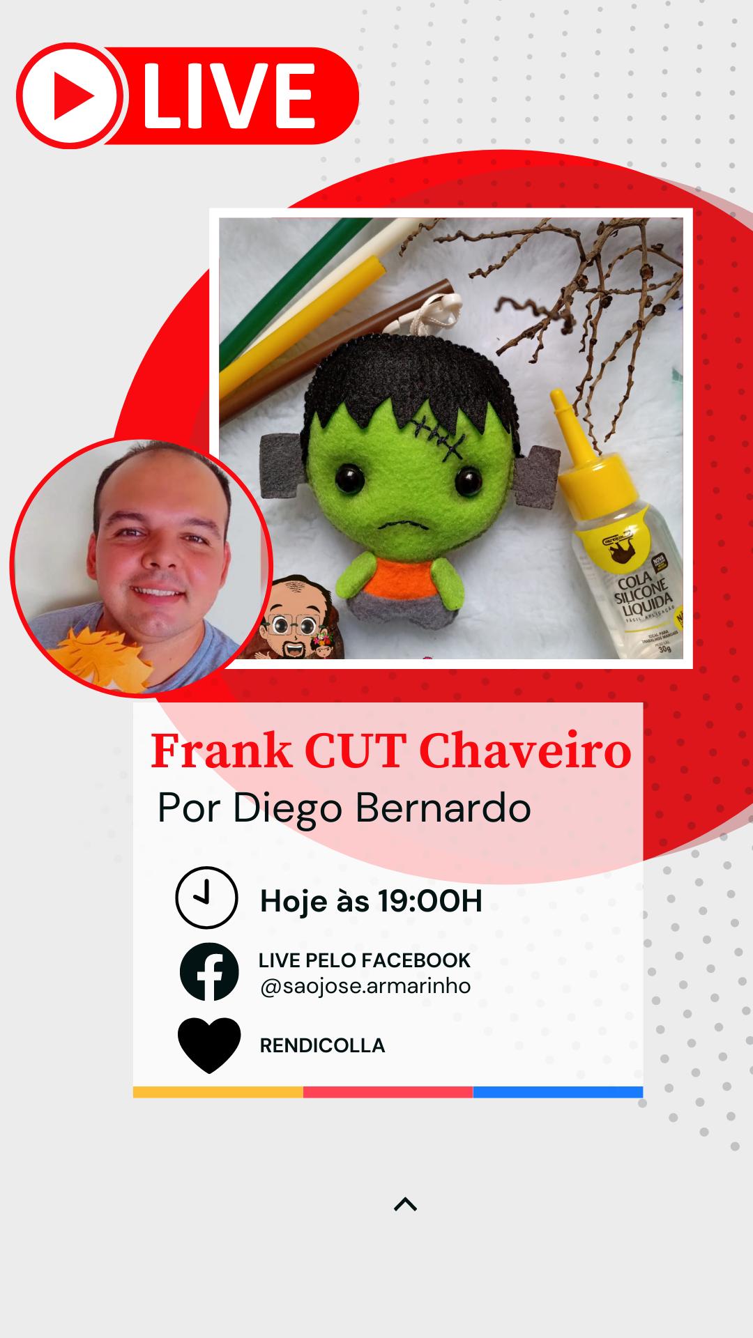 Moldes para Chaveiro em Feltro – Frank – por Diego Bernardo