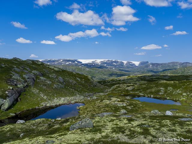 Vista de Finse en sendero Sysenvatnet - Noruega, por El Guisante Verde Project