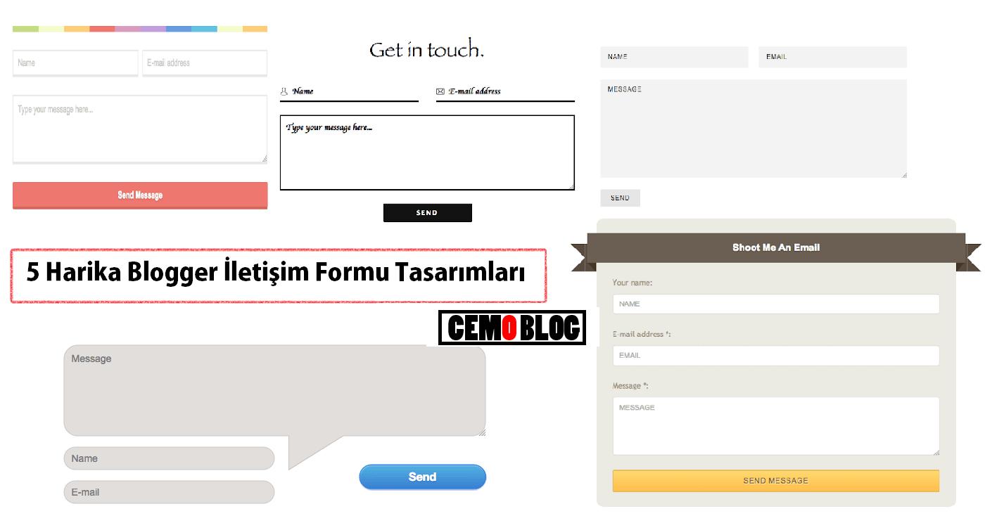 5 Harika Blogger İletişim Formu Tasarımları