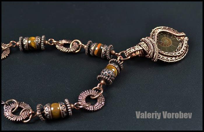 Handmade jewelry. Wire necklace. Wire wrap tutorial.