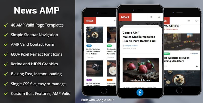 AMPNews Blogger Templates