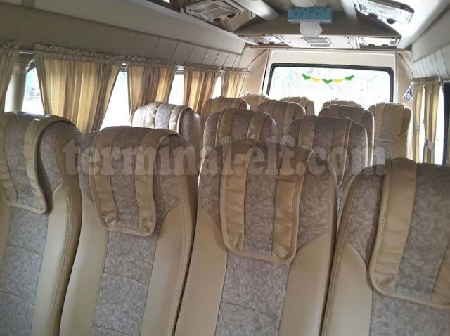 Tampilan kursi mobil elf 19 seat - elf tangerang