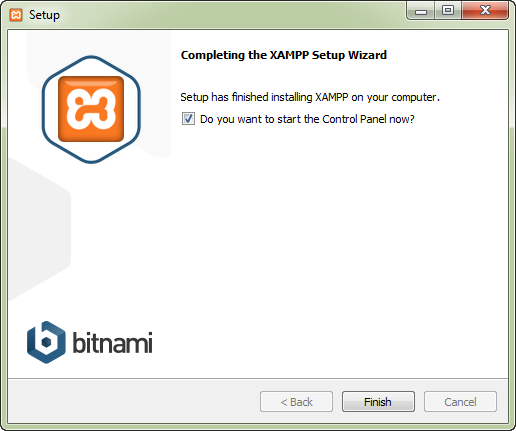 Cara Instalasi XAMPP di Windows - Proses Instalasi Selesai
